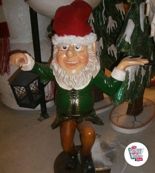 Figura Decoración Navidad Elfo con Farolillo