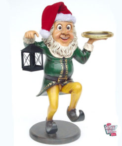 Figure Christmas Decoration Elf with Lantern