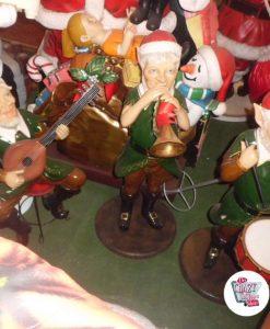 Figur Dekoration Weihnachtself mit Trompete