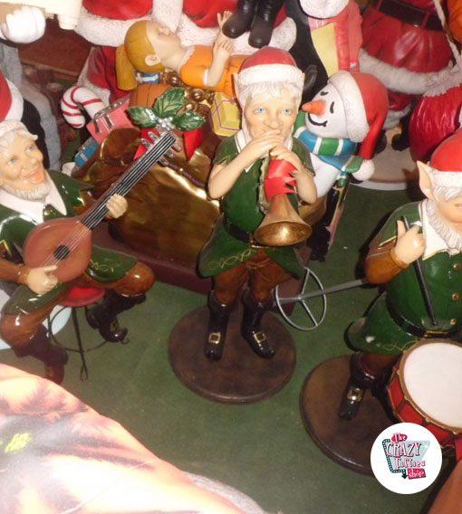 Figura Decoración Navidad Elfo con Trompeta