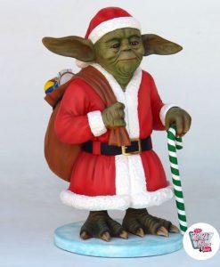 Figura Decoración Navidad Maestro Yoda Papa Noel