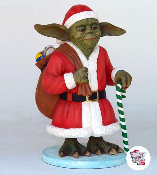 Figura Decorazione Maestro di Natale Yoda Babbo Natale