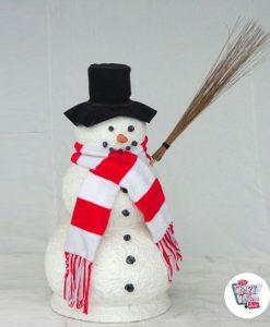 Figura decorazione Natale pupazzo di neve