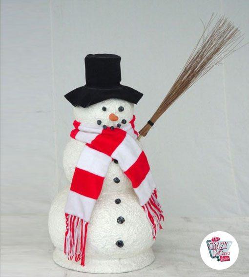 Figura Decoración Navidad Muñeco de Nieve