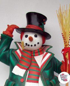 Figura Decoración Navidad Muñeco de Nieve Grande