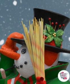 Figura Decorazione Natale pupazzo di neve grande
