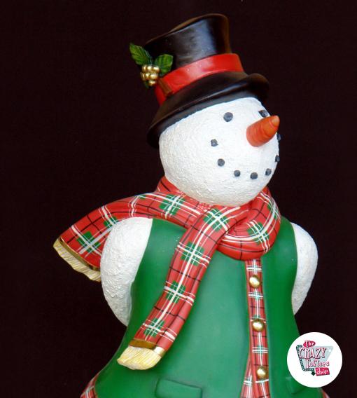 Figura Decorazione Natale Pattinaggio Pupazzo di neve