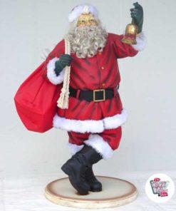 Figura Decorazione natalizia Babbo Natale con sacco e campana
