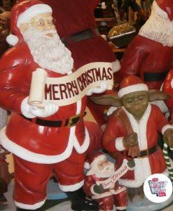 Figura Decorazione Natale Babbo Natale Buon Natale