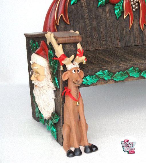 abbildung dekoration weihnachten weihnachtsmann sitzt auf bank. Black Bedroom Furniture Sets. Home Design Ideas