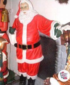 Figura Decoración Navidad Papa Noel con Chimenea