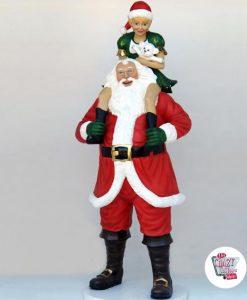 Figur Juldekoration Julemanden med Elf