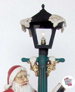 Figura Natale Decorazione Babbo Natale con Lanterna