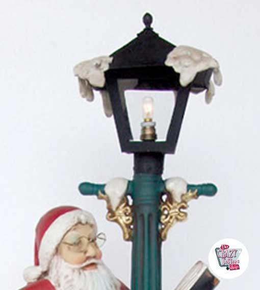 Figura Decoración Navidad Papa Noel con Farola