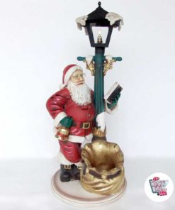 Figure Christmas Decoration Santa Claus with Lantern