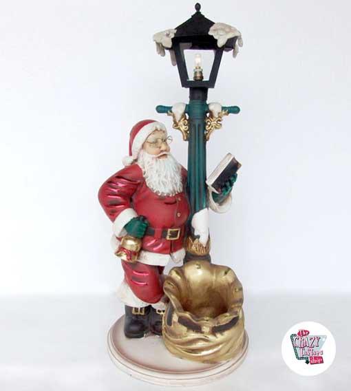 Figura Decoracion Navidad Papa Noel Con Farola Thecrazyfiftieses - Decoracion-figuras