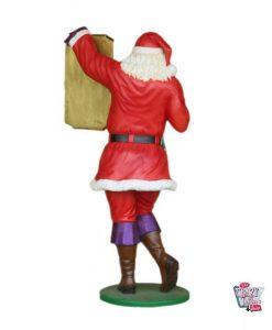 Figura Decorazione natalizia Babbo Natale con menu edizione LGTB