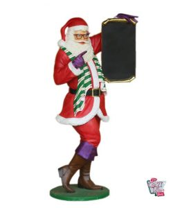 Figura Decoración Navidad Papa Noel con Menú edición LGTB