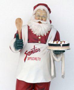 Decorazione di figura Natale Babbo Natale con la torta