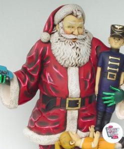Figur Decoration Jul Julemanden med Gaver