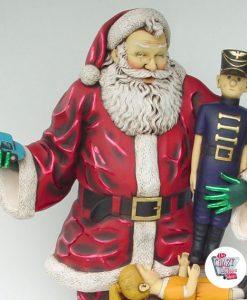 Figura Decoración Navidad Papa Noel con Regalos