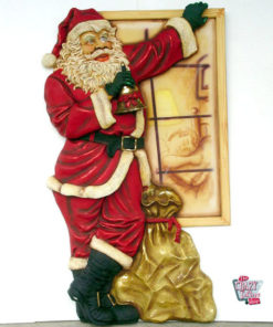 Figure Decoration Christmas Santa Claus in Window