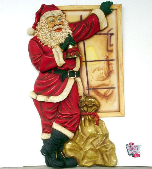 Figura Decoración Navidad Papa Noel en Ventana
