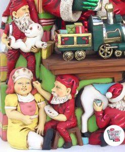Figura Decoración Navidad Papa Noel en el Taller