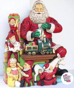Decorazione di figura Christmas Santa Claus nel workshop