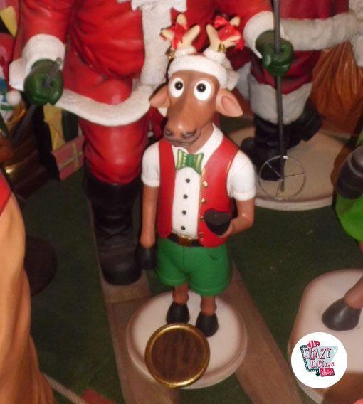 Figura Decoración Navidad Reno Camarero con Bandeja