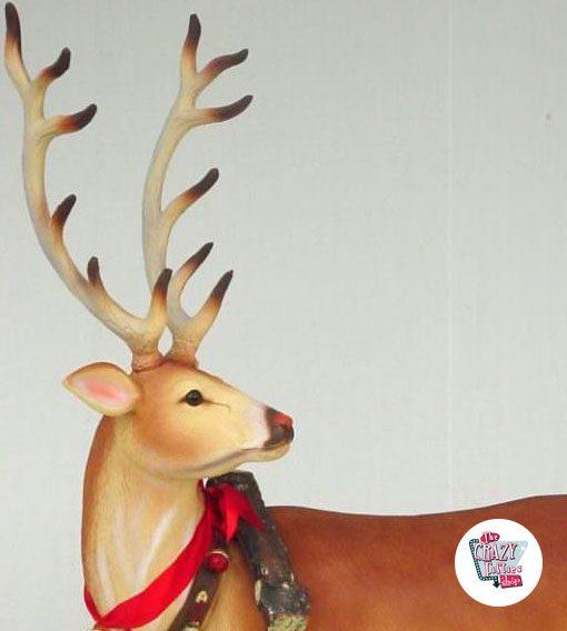 Figura Decoración Navidad Reno Papa Noel