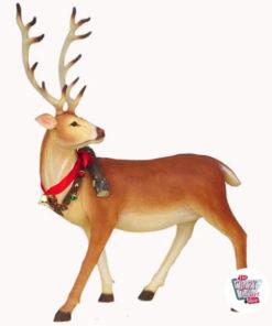 Figura Decorazione Natale Renna Babbo Natale