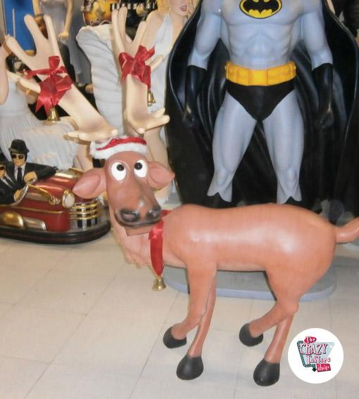 Figura Decoración Navidad Reno Patas Cruzadas
