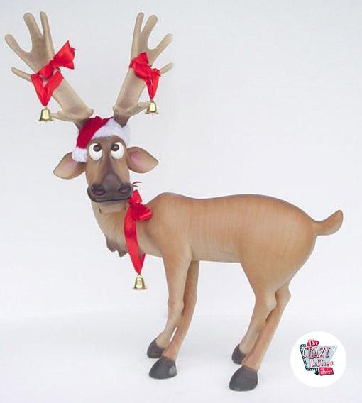 Figur dekoration weihnachten rentier tatzen kreuze for Rentier dekoration