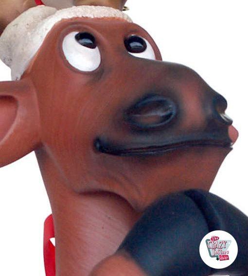 Figura Decoración Navidad Reno Rezando