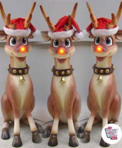 Figura Decorazione Natale Rudolf Rudolf seduta