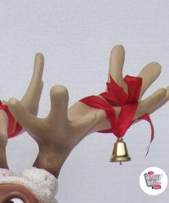 Figura Decorazione Natale Renna Seduta