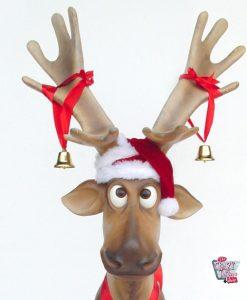 Figur Dekoration Weihnachten Rentier sitzend Ojitos