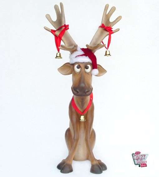 figure decoration christmas reindeer sitting ojitos