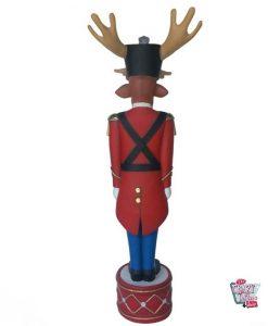Figura Decoración Navidad Reno Soldadito de Plomo