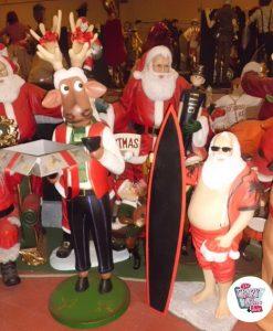 Figura Decoración Navidad Reno con Caja Regalo