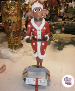 Figura Decorazione Natale Renna con regalo