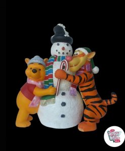 Figure Decoration Christmas Snowman, Tiger and Pooh