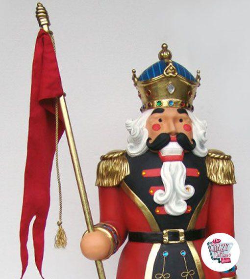 Figura Decoración Navidad Soldadito de Plomo Rey
