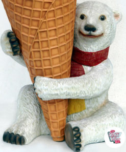 Polar Bear Figure Decoration with ice cream flavors