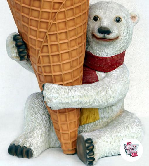 Orso polare Figura Decorazione con gusti di gelato