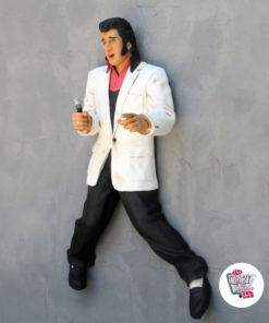 Figure Decoration Wall Elvis Microphone