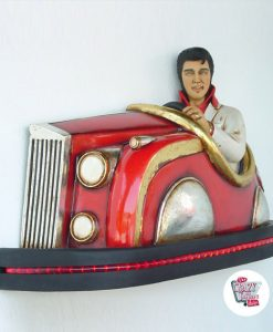 Figura Decoración Elvis auto de choque