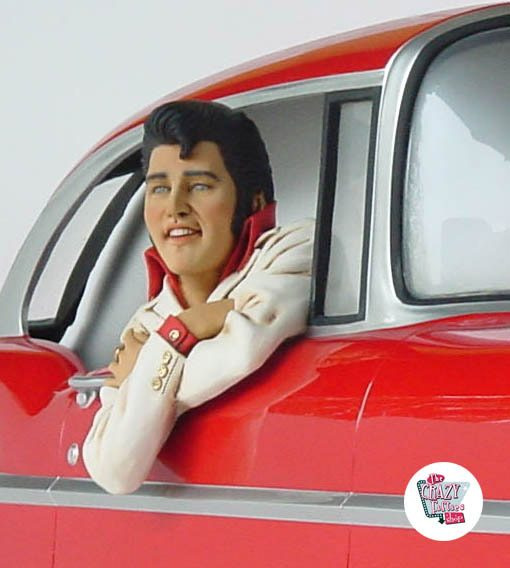 Figura Decoração Elvis Chevy 57