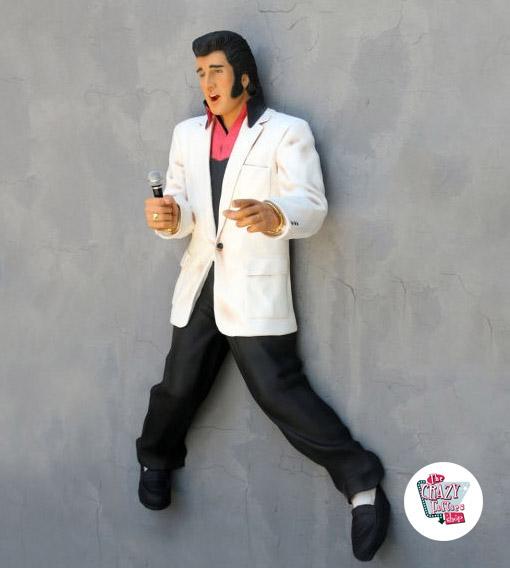 Figur Dekoration Wall Elvis Mikrofon